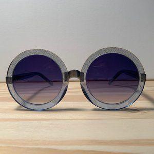 Wildfox Malibu Blue Oversized Sunglasses